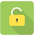 lock open icon vector image vector image