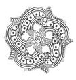 mandala for coloring book pages ornament pattern vector image