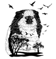 monkey marmoset for your design wildlife concept vector image vector image