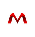 mv letter logo vector image vector image