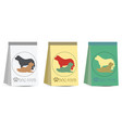 pet dog food bag sign simple icon vector image vector image