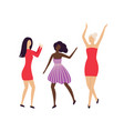 pretty girls having hen-party disco club isolated vector image