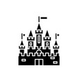 princess castle black icon sign on vector image