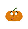 pumpkin surprised emoji halloween vegetable vector image vector image