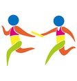 relay race icon in colors vector image vector image