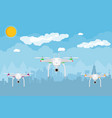 remote controlled aerial drone in sky