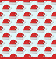 santa claus fashion red hat modern seamless vector image vector image