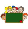 school blackboard with children vector image