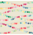 Seamless background with multicolored garlands vector image vector image