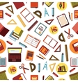 seamless pattern school and office supplies vector image