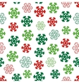 seamless winter pattern with snowflakes vector image