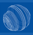 sphere of spirals outline vector image