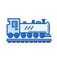 steam locomotive line icon vector image