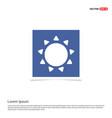 sun icon - blue photo frame vector image