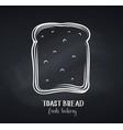 toast bread slice chalkboard style vector image vector image