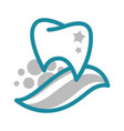 tooth and toothpaste dentistry and dental clinic vector image vector image