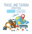 travel and tourism flat poster vector image vector image