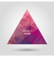 Triangle abstract icon vector image vector image