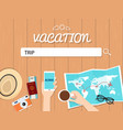 trip search graphic for vacation vector image vector image