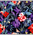 tropical floral patchwork trendy seamless vector image vector image