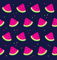 watermelon background with black seeds vector image