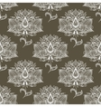 White paisley seamless pattern vector image vector image