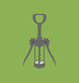 Wine Bottle Corkscrew Icon vector image