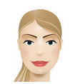 woman avatar woman face vector image