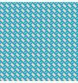 Zigzag seamless pattern in retro colors vector image vector image