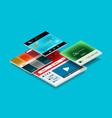 web site page design development concept vector image