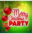 Christmas party flyer template vector image