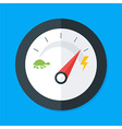 Speedometer Flat Stylized vector image