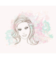 Abstract Beautiful Woman portrait vector image vector image