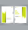 abstract brochure green color new stripe line vector image
