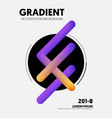 abstract gradient background decorate vector image vector image