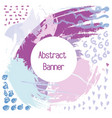 abstraction banner in the purple shades of color vector image