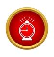 Alarm clock icon in simple style vector image vector image
