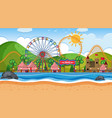 an outdoor scene with circus vector image vector image