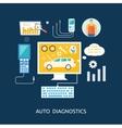auto mechanic service flat icons maintenance vector image