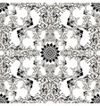 baroque black and white ornamental seamless vector image vector image