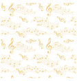 beige and white seamless pattern with wavy music vector image vector image