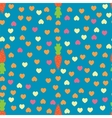 Carrot and Heart seamless pattern vector image
