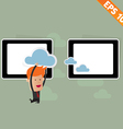 Cartoon Business man carry cloud service - vector image vector image
