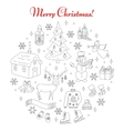 Christmas and New Year holiday line icons set vector image vector image