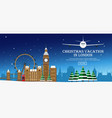 christmas journey to london flat vector image
