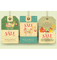 Christmas Supermarket Sale Tags vector image
