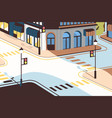 cityscape with street intersection elegant vector image vector image