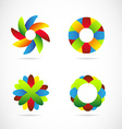Colored logo icon elements set vector image vector image