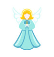 colorful cartoon christmas angel vector image