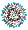 colorful mandala design vector image